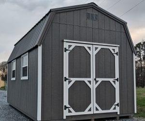 Grey Storage building from R&R Buildings Oak Ridge