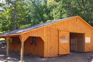 modular barn from R&R Buildings Oak Ridge
