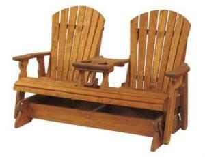 wooden console glider