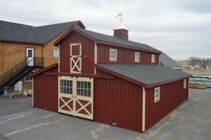 red modular barn in Oak Ridge TN