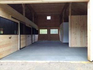 modular barn interior