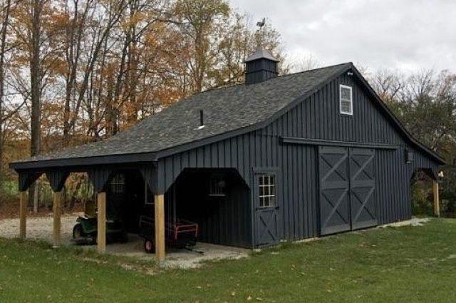 black modular barn