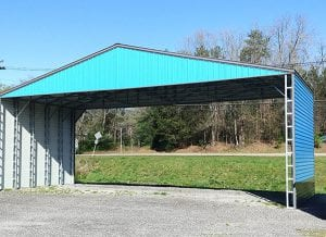 blue metal carport in Oak Ridge TN