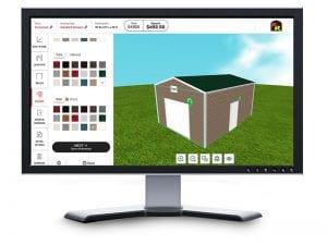online metal garage builder on desktop