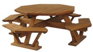 wooden octagon table