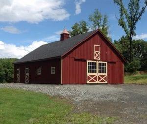 red barn from R&R Buildings Oak Ridge
