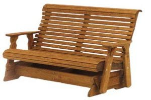 wooden outdoor bench