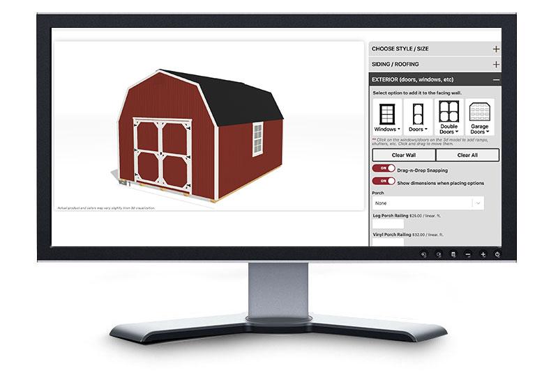 online storage building builder on desktop