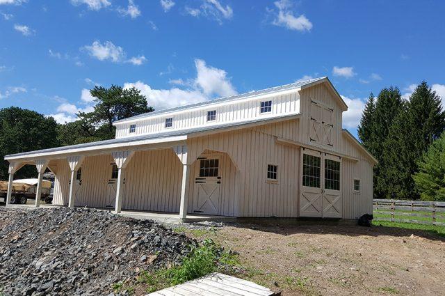 white barn